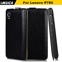 iMUCA Case for Lenovo P780 Case Cover Flip Leather Case Anti-knock Phone Back Cover Coque for Lenovo P780 Mobile Phone Bags(China)