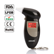 Digital LCD Alcohol Breath Analyzer Breathalyzer Tester Keychain Audible Alert(China)