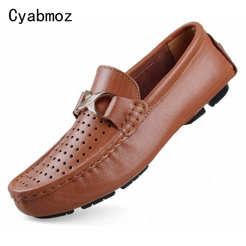 2017 men casual shoes split leather flats driving shoes men peas shoes comfortable breathable lazy loafers big size 38-50 oxford<br>
