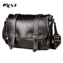 MOXI Men Messenger Bag China Style Business Bag For Male Oil Wax Genuine Leather Men Crossbody Bag Leisure Daily Casual Bag Men