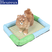 Heureux 3 size dog bed for small and meduim dogs summer use pet bed breathable thick sofa dog bed with rattan mat cat bed