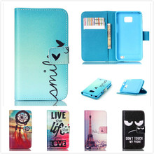Luxury Top Quality Flip Leather Phone Case For Samsung Galaxy S2 SII i9100 Wallet Stand Cover Cases With Card Holder(China)