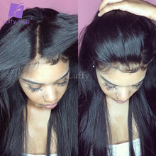 Luffy 4x4 Silk Top Brazilian Full Lace Wig With Baby Hair Silky Straight Silk Base Lace Front Human Hair Wigs Black Women