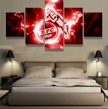 5 Panel FC Kln GmbH & Co. KGaA Sports Football Print Painting On Canvas Modern Home Pictures Prints Living Room Deco Fans Poster