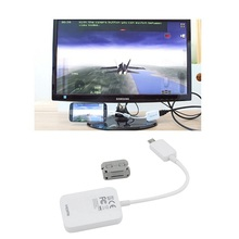 White 1080P 3D Micro USB MHL to HDMI Adapter MHL HDTV Cable for Samsung Galaxy S4 S5 Note3 i9500 i9600 etc with Retail Package