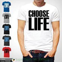 7256d54d Choose Life T Shirt Wham! Inspired Tee 80s Fancy Dress George Michael White  ! T