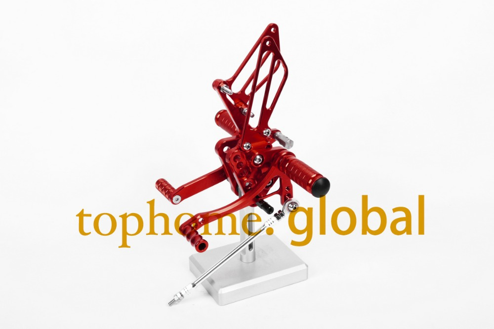 Free Shipping Motorcycle Red CNC Rearsets Foot Pegs Rear Set For Suzuki GSXR1000 2005-2006 motorcycle foot pegs<br><br>Aliexpress