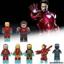 Legoing Marvel Iron Man Banana Guy Sausage Man Legoing Figure Batman Joker Robin Building Blocks Toys for Children With Legoings(China)