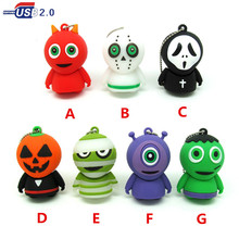 funny Mummy/Devil usb flash drive disk memory stick Pen drive personalized mini  Halloween Monster pendrive 4gb 8gb 16gb 32gb