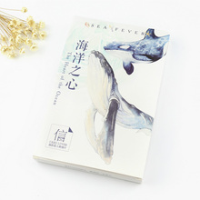 30 pcs/lot Aquatic creatures whale postcard landscape greeting card christmas card birthday card message gift cards