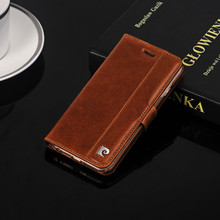 Pierre Cardin For iPhone 6 6s 7 Plus Premium Genuine Leather Vintage Flip Stand Holder w/ Sim TF Card Slot Durable Cover Case(China)