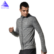 VECTOR Brand Running Jacket Men Quick-drying Running Jersey Windproof Coat Outdoor Sports Hiking Run Hooded sport jerseys(China)