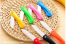 kitchen knife ceramica pocket knife folding ceramica knife  vegetable fruit knife kitchen tools Color random