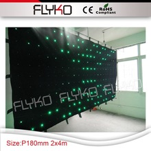 led vision cloth dj stage effect P18cm 7ft high by 14ft width full color led lamps wedding equipment for tv show(China)