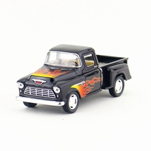 KINSMART Die Cast Metal Model/1:32 Scale/1955 Chevy Stepside Pick-up toy/Pull Back Car/Children's gift/Educational Collection