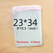 23x34cm 2mil OPP jewelry bag 23*30+4cm Book Clothes bag A4 size transparent Magazine pouch self adhesive seal clear plastic bag