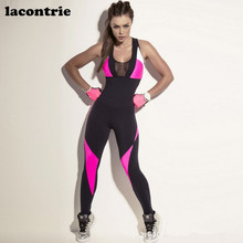 Lacontrie Women Sports Leggings Sexy Yoga Coverall Fitness Yoga Running Training Jogging Compression GYM Sports Sets Yoga Pants