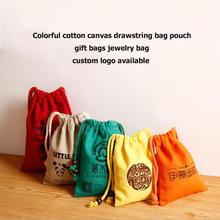 W18 x H24cm Natural Cotton Canvas Promotional Bag Drawstring Gift Pouch Jewelry Pouch Bag Tea Bag Free Shipping(China)