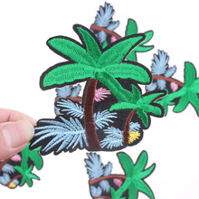 Plant Parches Embroidered Iron on Patches for Clothing DIY Stripes Clothes Coconut Trees Stickers Custom Badges For Clothing