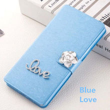 High quality Flip Stand Luxury Diamond Case for ZTE BA510 Blade A510 A 510 5.0'' Cell Phone bags cases for ZTE Blade A 510 cover(China)