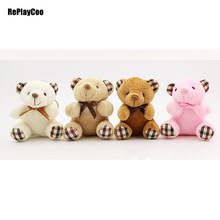50Pcs/Lot Cute Small Teddy Bear Plush Toys Chain Bow Bears Animal For Wedding Gifts For Children Ted Bears Plush Toys 06502(China)