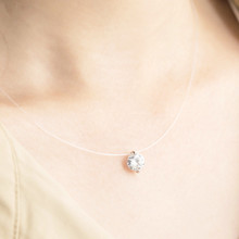 New Zircon Long Necklace Sweater Chain Fashion Fine Metal Chain Crystal Rhinestone Flower Pendant Necklaces Adjusted(China)
