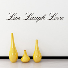 Home Garden Home Decor LIVE LAUGH LOVE Wall Art Quote Vinyl Decal Home Art Decor Paper Wall Stickers(China)