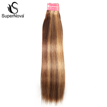 Supernova  1 piece Straight Hair Piano Color Non- Remy Human Hair Bundles Free Shipping