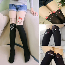 New children Baby Kids Girls tights cute Cat/Mouse/Bunny Toddler pantyhose hello kitty Knee lovely tattoo tights girls stocking