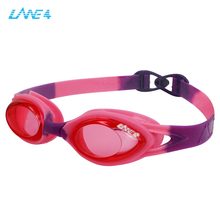 LANE4 kids swimming goggles with redclear bluegreen pink orange purple colors, kids swimming goggles A335