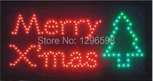 2017 Rushed Sale Graphics  Animated Motion Running Led Merry Chirstmas  Open  Sign 15.5X27.5 Inch