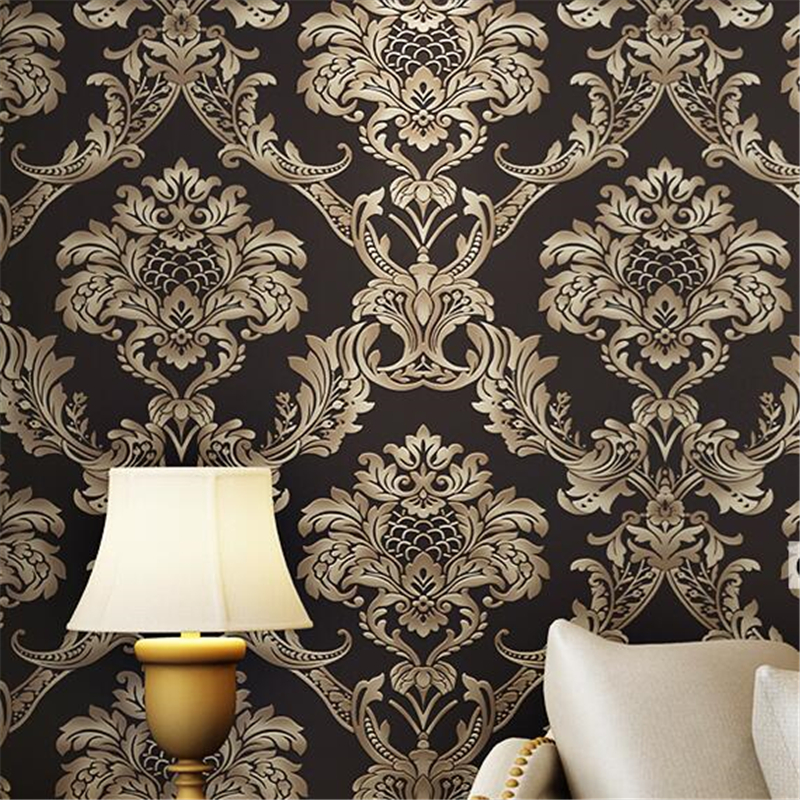 beibehang European floral papel de parede 3D PVC wall papers home decor classic roll wallcovering luxury wallpaper for walls 3d<br>
