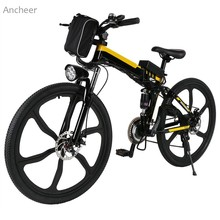 26inch 21 Speed Mountain Bike Foldable Electric Power Mountain Bicycle Lithium-Ion Battery Aluminum Alloy Bicycle Frame Sports(China)
