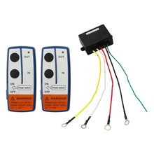 12V Recovery Wireless Winch Remote Control 2 Handset Switch For JEEP ATV SUV(China)