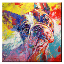 xh359 French Bulldog Graffiti Pop Art Oil Painting Acrylic Portrait Print Wall Painting For Living room No Frame
