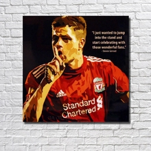 Free Shipping Hot Sale New Arrival Good Quality Wall Art Home Football Poster Pop Art Hand painted Oil Painting Canvas RW392(China)