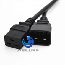 1.8M 50 pcs C19 C20 Power Cord Server UPS Power Cable C19 Female to C20 Male power supply cord 3X2.08mm square Power Wire(China)