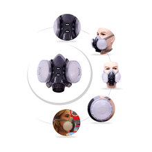 1Set Dust mask anti fog and haze PM2.5 industrial dust activated carbon silica gel riding breathable