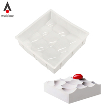 Wulekue 3D Silicone Cake Mould Square Rock Shape For Baking Chocolate Brownie Dessert Mousse