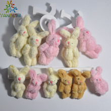100pcs/lot Mini Joint Teddy Bear plush toys bears 4cm animal for Wedding peluches bicho ursinho de pelucia 6cm plush rabbit(China)