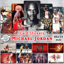 (35 pieces/lot) Michael Jordan Card Stickers Magic Air Mike MJ His Airness Black Cat GOD NBA MVP Sticker Basketball Fans Gifts