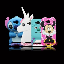 For Huawei Y3 II 2 Hot 3D Silicon Minnie Stitch Sulley Horse Cartoon Soft Phone Back Skin Cover Case for Huawei Y3II / Y3 II 2