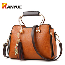 Ranyue Luxury Handbags Women Bags Designer Pu Leather Tassel Shoulder Crossbody Bags For Female Cat Sequined Tote Bag Sac A Main(China)