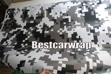Black white Digital Ubran Camo Vinyl Car Wrap Styling skin Pixel Camouflage Graphics decals PROTWRAPS size 1.52x5m/Roll(China)