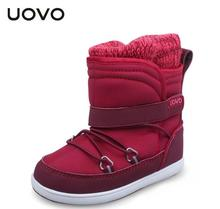 UOVO brand designer toddler girl boots water-proof autumn winter little kids boots casual sport shoes for little girls red shoes