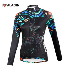 PALADIN Women Cycling Jersey Breathable Long Sleeve Jersey  Ropa Ciclismo Bicycle Sportswear Bike Quick Dry Cycling Clothing