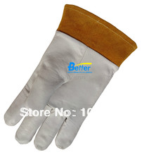 Deluxe TIG MIG Welding Safety Gloves Excellent Comfoflex TIG MIG Grain Cow Leather Welding Work Gloves(China)