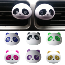 2pcs car-styling Panda Car Perfumes 100 original 5ml Solid Air Freshener OEM Air Conditioning Vent Flavoring In the Car parfums