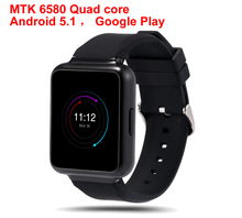 "Q1 Smart Watch MTK 6580 Quad core Android 5.1 WiFi 1.54"" Display GPS 3G Bluetooth Nano Sim Heart Rate Monitor Smartwatch"