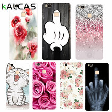 KALCAS Soft Cases For Huawei P8 Lite P9 Lite Nova Thin Phone Bags Thin Cute Cartoon Cat Flower Print Cover For Huawei P8 Lite